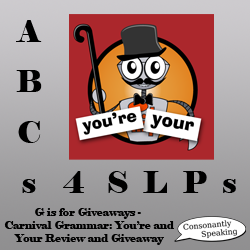 ABCs 4 SLPs: G is for Giveaways - Carnival Grammar: You're and Your image