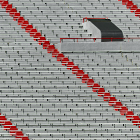 Open Seating by Christopher Pischel - Abstract Patterns ( abstract, stairs, stadium, sports, seating, lines, steps, bleachers )
