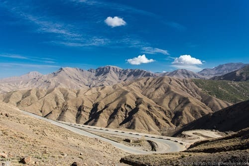 Atlas mountains and road Morocco