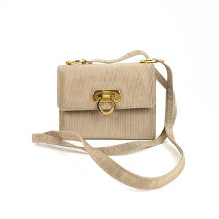 Salvatore Ferragamo Ribbed Mini Shoulder Bag