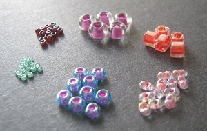 Assorted Seed Bead Sizes and Shapes