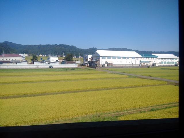 現美新幹線車窓
