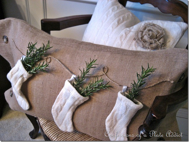 CONFESSIONS OF A PLATE ADDICT Pottery Barn Inspired Stocking Pillow