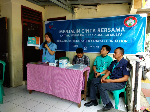 RS Mekarsari dan Cahaya Foundation Gelar Sosialisasi BPJS & KS dan BAKSOS Kesehatan