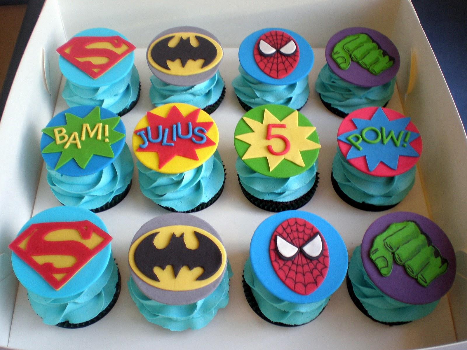 Sugar Siren Cakes Mackay: Superhero Cupcakes