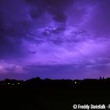 Onweer boven Pekela 27 op 28 augustus 2016