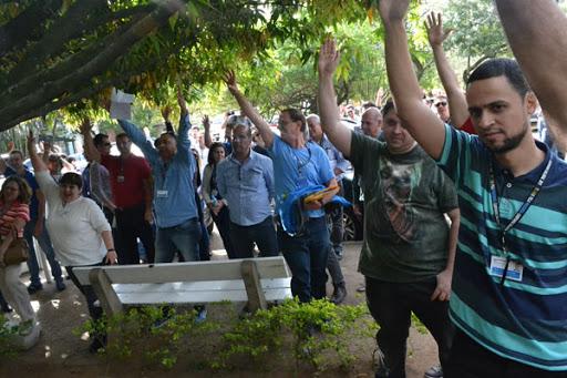Salchipão e Assembleia dos Trabalhadores da Procergs - Campanha Tô de Saco Cheio e Bolso Vazio