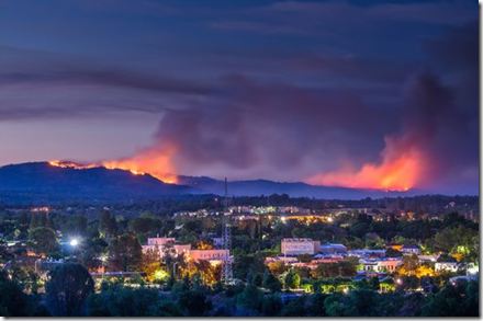 From KCRA with source: Wayne Wilson Artworks - Butte 'Wall Fire'