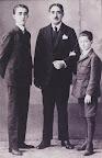 Don Rafael Belaunde con sus hijos Rafael y Fernando
