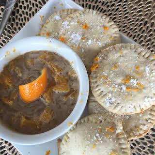 Deconstructed Orange Caramel Empanadas.
