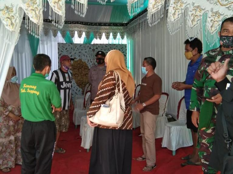 Tiga Pilar Kamtibmas Kelurahan Lalabata Rilau Sambangi Warga Binaan yang akan Laksanakan Hajatan