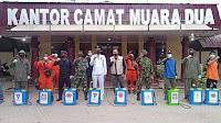 Brimob Polda Aceh Bersama Tim Gabungan Semprot Disinfektan di Kota Lhokseumawe