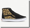 Vans Leopard and Suede Hi Top Trainers