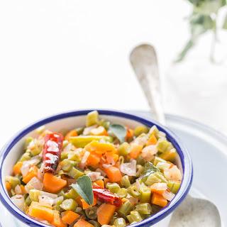 Beans-Carrot-Cabbage Poriyal | Vegetable Stir Fry