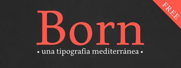 Born Typeface Free Fonts