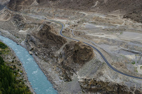 Beautiful KKH going towards Khunjerab, View from Altit Fort