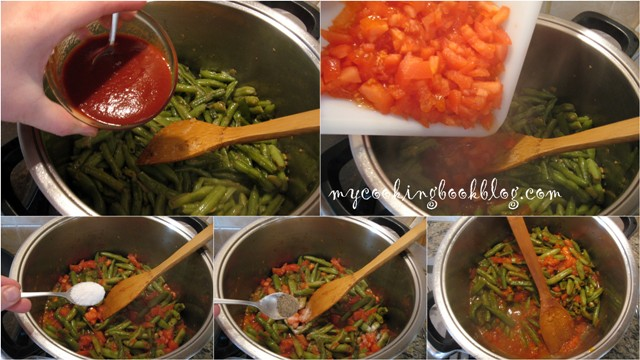 Зелен фасул с месо (агнешки ребърца)