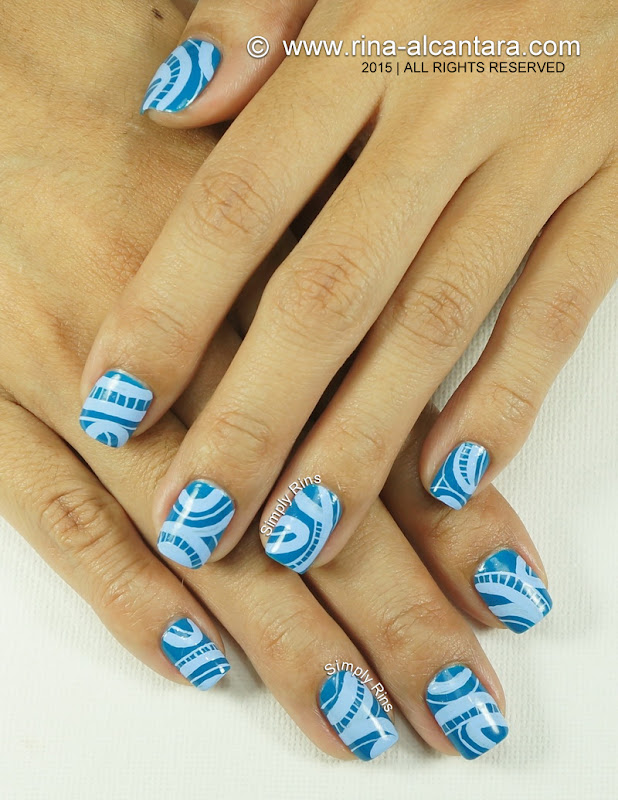 No Direction Nail Art by Simply Rins