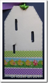 Easter Button Brooch Tag