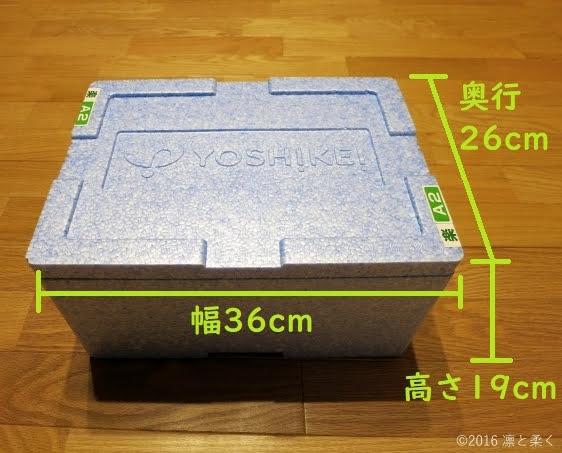発泡スチロールボックスの大きさ図解