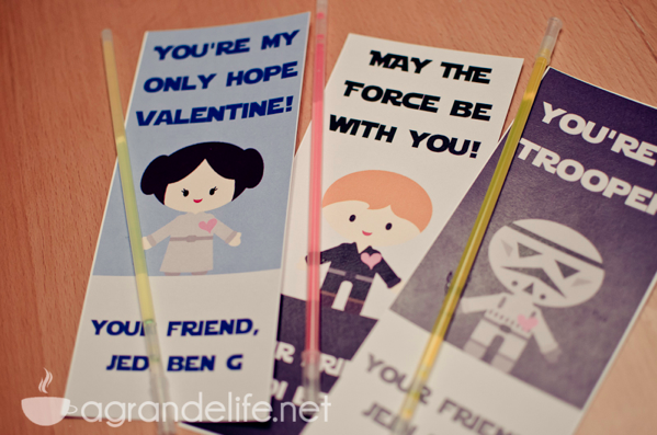 Light Saber Glow Stick Valentines