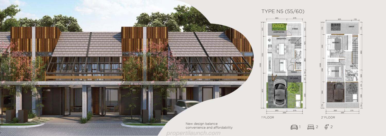 Rumah Asera Nishi Harapan Indah Bekasi Tipe N5