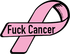 52664-custom-ribbon-magnet-sticker-Fuck Cancer