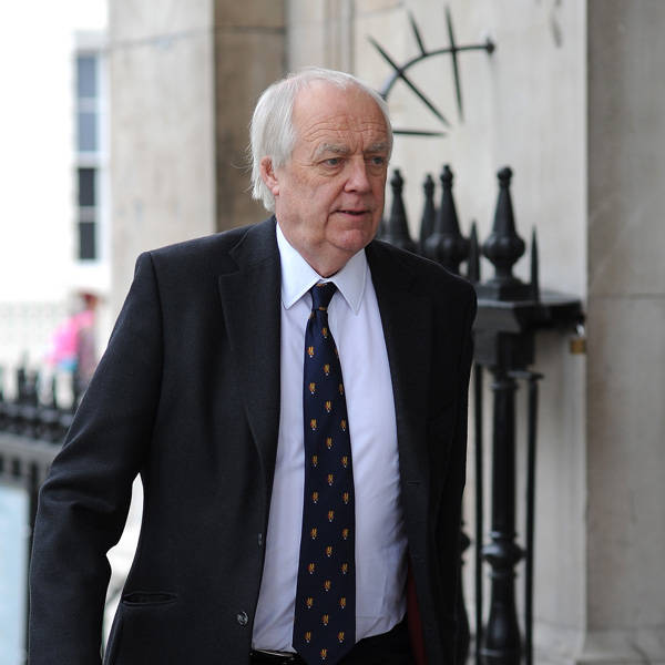 Sir Tim Rice attends the memorial Service for Tony Greig, in London, on June 24, 2013.