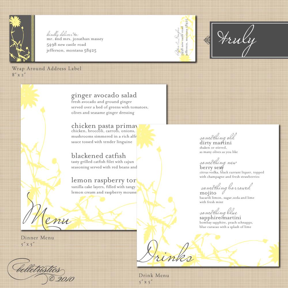 Laniyah's Blog: Blank Wedding Menus Designs