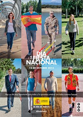 Desfile del 12 de octubre de 2015, Fiesta Nacional - Secuencia de actos