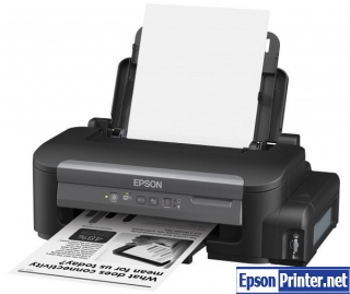 How to reset Epson M105 by application