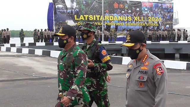 Kapolri dan Panglima TNI Buka Latsitarda Nusantara XLI 2021
