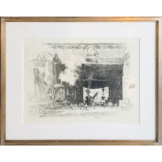 Signed Industrialist Lithograph