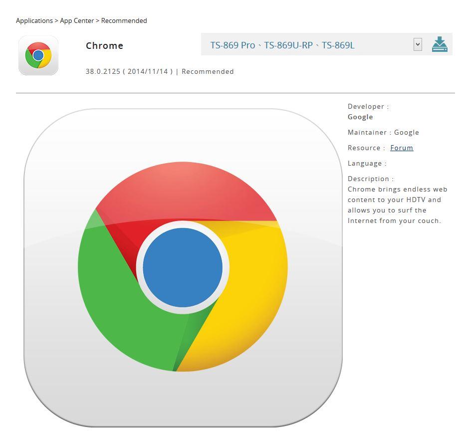 Chrome For Qnap HD Station - Google Chrome Help