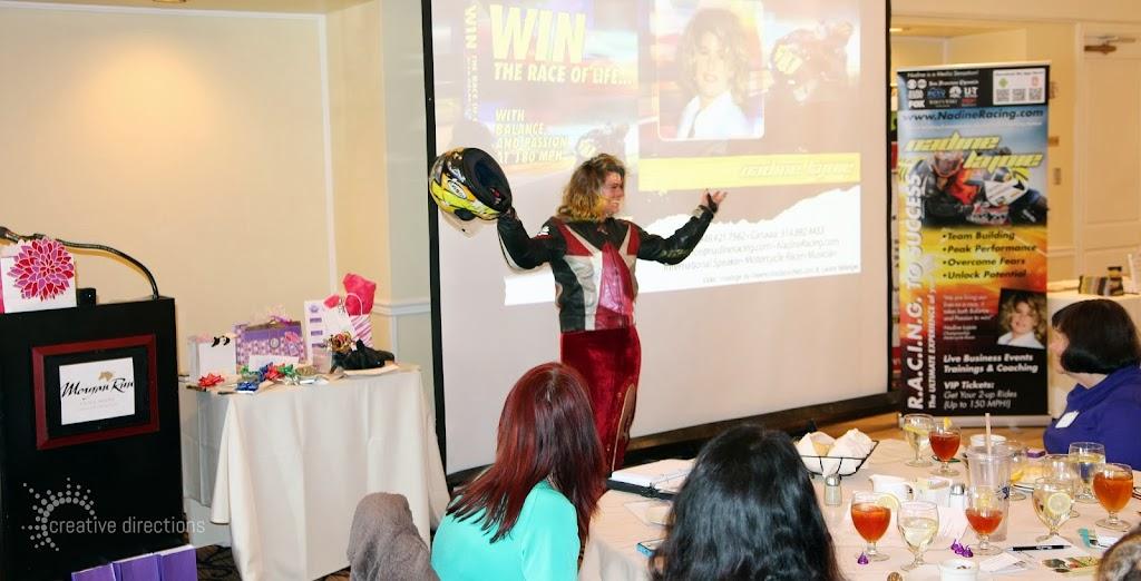 women's wisdom judy foster jan14 luncheon nadie lajoie motorcycle