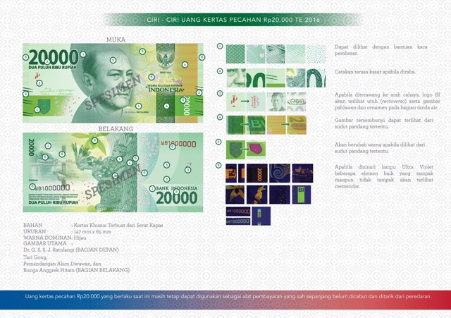 uang NKRI baru Rp20000