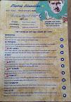 close-up photo of the menu