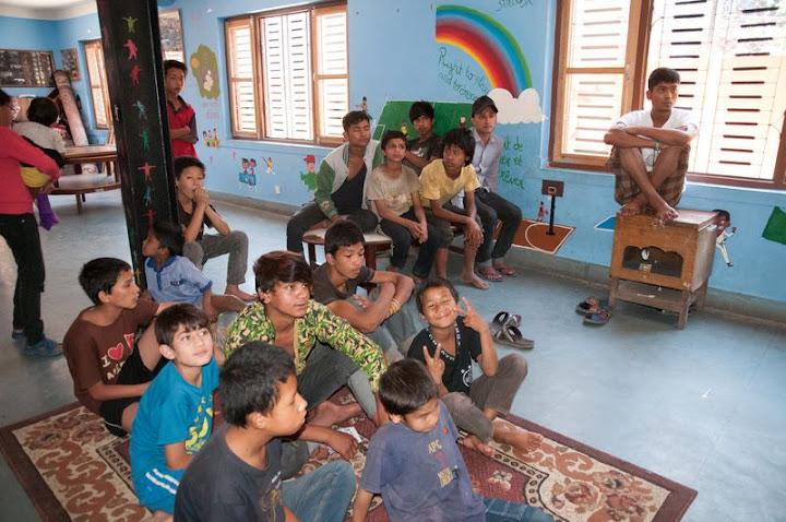 Foyer d'accueil APC à Katmandou (Photo d'Hilaire Tourancheau)
