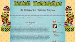 рождественский шаблон для blogspot