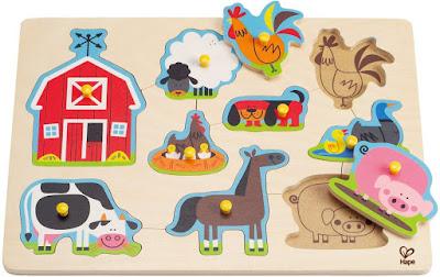 Ghép hình Thú nuôi Nông trại Hape Farm Animals