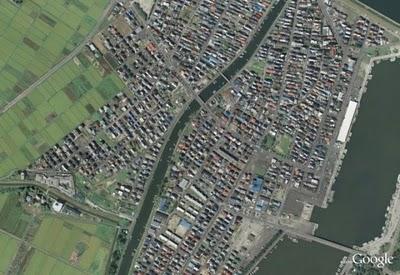 صور من جوجل لليابان قبل و بعد زلزال و تسونامي اليابان-غرائب و عجائب-منتهى