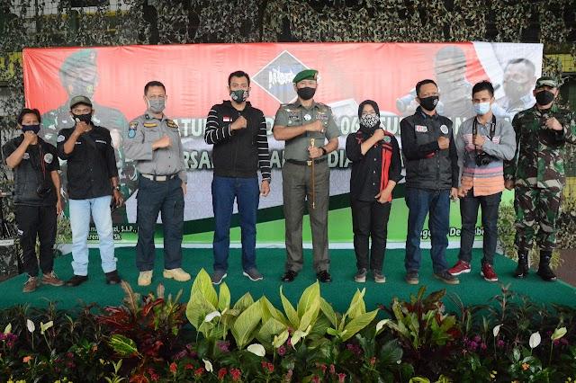 Silaturahmi Danrem 061/Sk dengan Insan Media Bogor