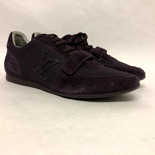 Louis Vuitton Purple Suede Sneakers