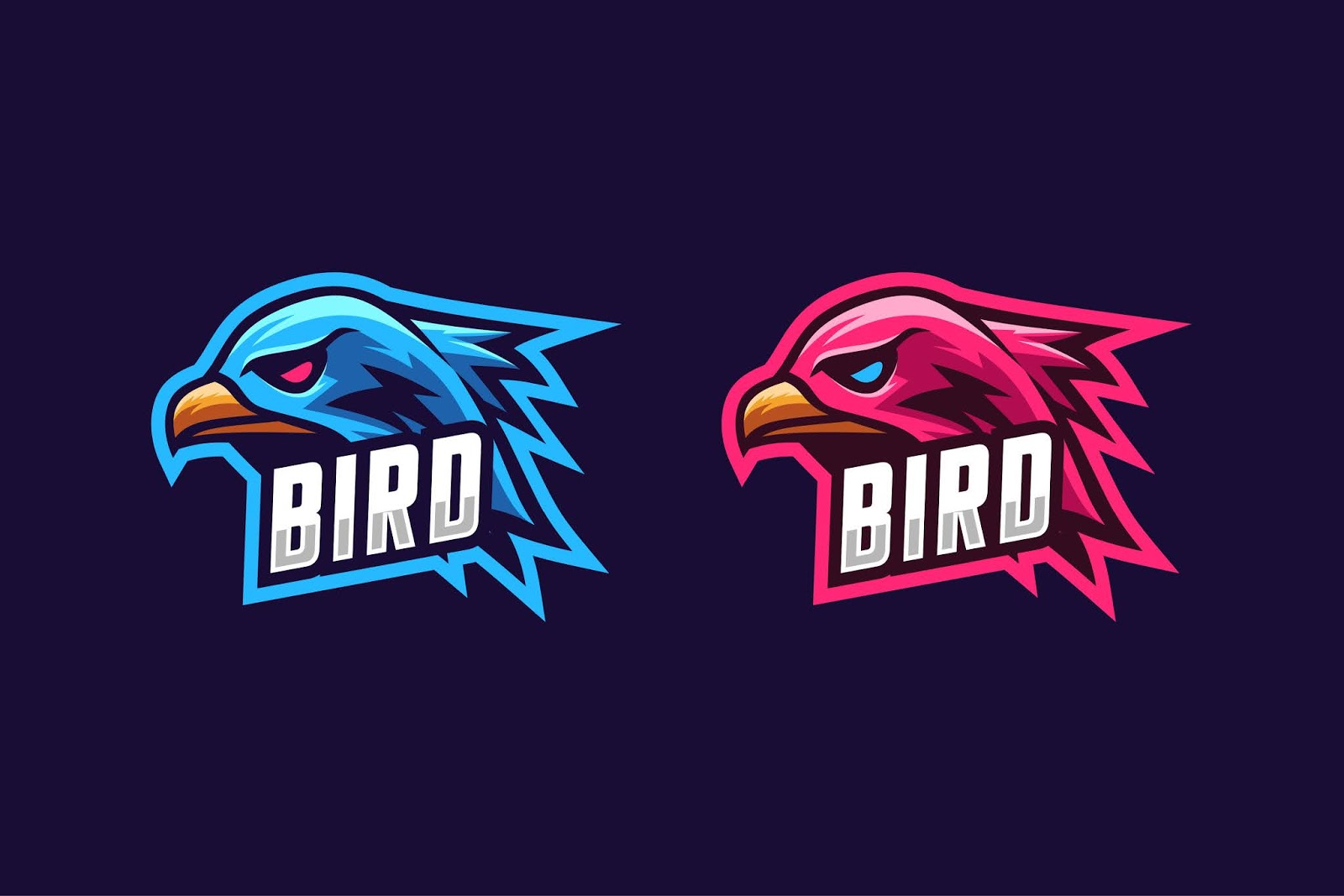 Simple Bird Esport Logo Free Download Vector CDR, AI, EPS and PNG Formats