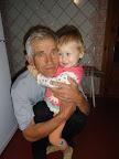 Два года с маленьким хвостиком :) С дедушкой Витей
