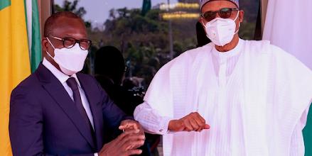 President Muhammadu Buhari  met behind closed doors with President Patrice Talon of Benin Republic at the State House, Abuja.