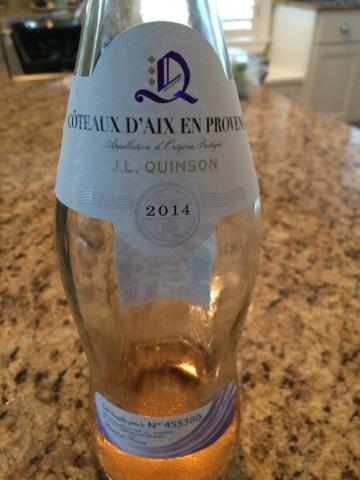 Sassy Wine Belly - J.L. Quinson Côteaux d'Aix en Provence Rosé 2014