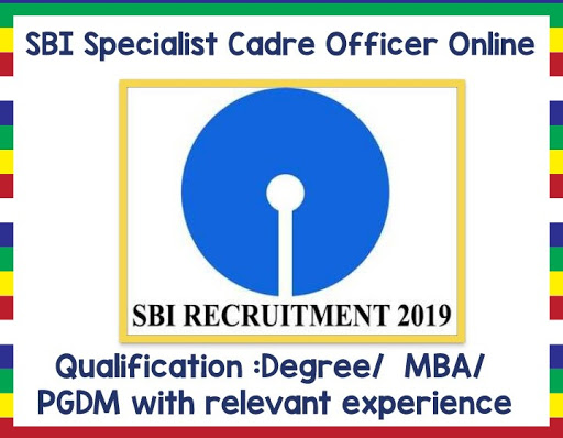 Sbi recruitment of Specialist Cadre Officer 579 posts