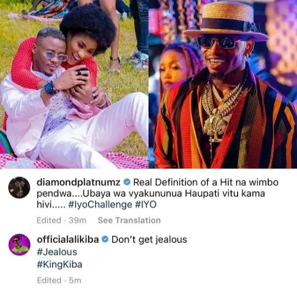 Diamond Platinumz and Ali Kiba fights photo