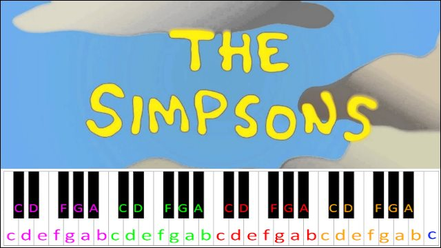 The Simpsons Theme ~ Piano Letter Notes